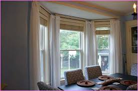 Dining Room Bay Window Treatments Photo Of Exemplary Curtain Ideas Home Unique