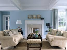 sky blue and white scheme color ideas for living room decorating