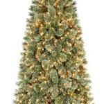 Pre Lit Pencil Cashmere Christmas Tree by 7 Ft Pre Lit Green Pencil Cashmere Artificial Christmas Tree