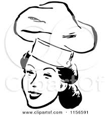 Black woman chef clipart