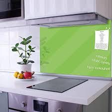 banjado glas nischenrückwand für küche 90cm x 60cm küchenrückwand limettengrün spritzschutz selbstklebend ohne bohren fliesenspiegel magnetisch