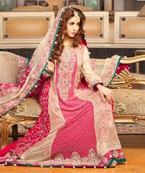 Pink Fawn Bridal Dress With Lehenga