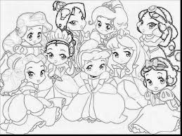 Magnificent Baby Disney Princess Coloring Pages With Anime And