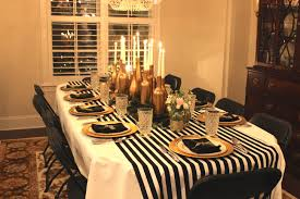 black white and gold birthday party decorations image