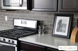 Grey Tiles White Grout by The Yellow Cape Cod Dark Tile Light Grout Kitchen Backsplash