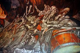 Jose Clemente Orozco Murales Guadalajara by Drums And Violins Balcony Clowns Of War In Hell José Clemente