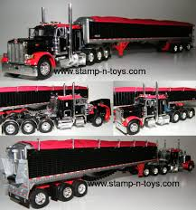100 Diecast Promotions Trucks Snt Custom 0057 Pete 379 Pulling A Belted Grain Trailer StampnToys