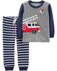 100 Fire Truck For Toddlers 2Piece Truck Tee Striped Jogger Set Carterscom