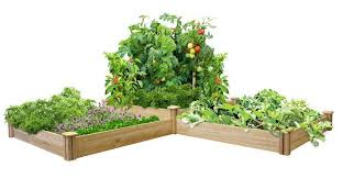amazon com greenes fence two tiers dovetail raised garden bed
