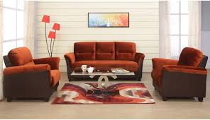 100 Sofa N More Ilkamal Catherine Fabric 3 1 1 Brown Set Price In