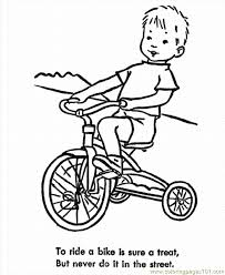 Coloring Pages Safety 007 Transport Bikes