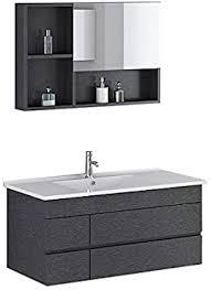 badmöbel badmoebel appenzell in schwarz incl spiegelschrank bad möbel spiegelschrank waschtisch unterschrank set