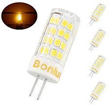 bonlux g4 bi pin base led bulb 4 watts 120v warm white t3 jc type