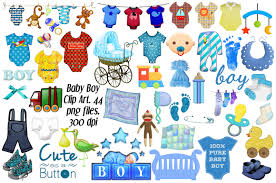 Baby Boy Clip Art 44 png files Illustrations Creative Market