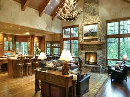 Rustic Ranch Decor House Open Interior Floor Plan Style Homes Living Room
