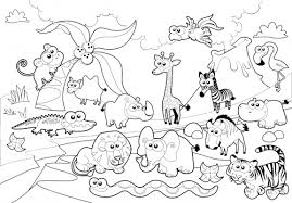 Detailed Coloring Page Zoo Animals Kidspressmagazine Com