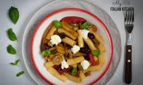 Pasta With Peppers And Olives Ricotta