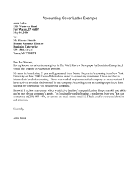 Sample Accounting Cover Letter Inspirational Customer Services Cover