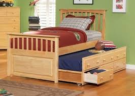 Fancy Cheap Trundle Beds Wooden Twin Bed With Drawers Design
