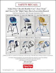 High Chair Recall - Toys