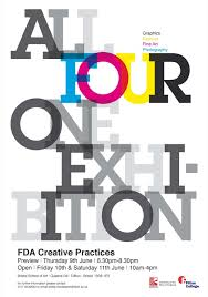 Academy In Bristol Covering The Four Pathways Fine Art Graphics Fashion And Photography This Is Poster I Designed To Promote Exhibition