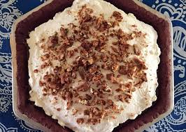 Pumpkin Pie With Pecan Praline Topping by Honduras Chocolate Praline Pumpkin Pie