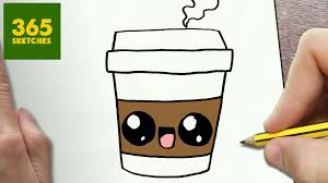 HOW TO DRAW A COFFEE CUTE