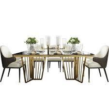 design klassiker esstisch tisch holz mit edelstahl tische hochglanz wohnzimmer