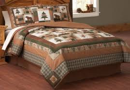 Lodge Style Comforter Sets Deer And Cabin Bedspreads Quilts Moosehead Rustic 16
