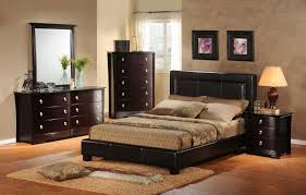 Contempo Image Of Classy Bedroom Decoration Using Rectangular Black Leather King Headboard Including Bed Frame And 3 Drawer Wood