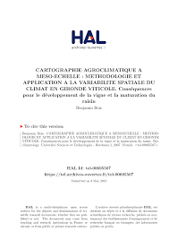 bureau vall cl ent de rivi e cartography of agroclimatic indices at pdf available