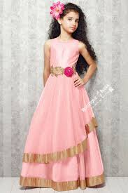 u0027s light pink and golden casual gown dress gilr u0027s casual