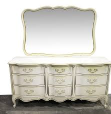 Johnson Carper White Dresser by Johnson Carper French Provincial Style Dresser With Mirror Ebth