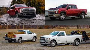100 Super Duty Truck Ford Vs Chevrolet Vs Ram Heavy Prioritizer MotorTrend