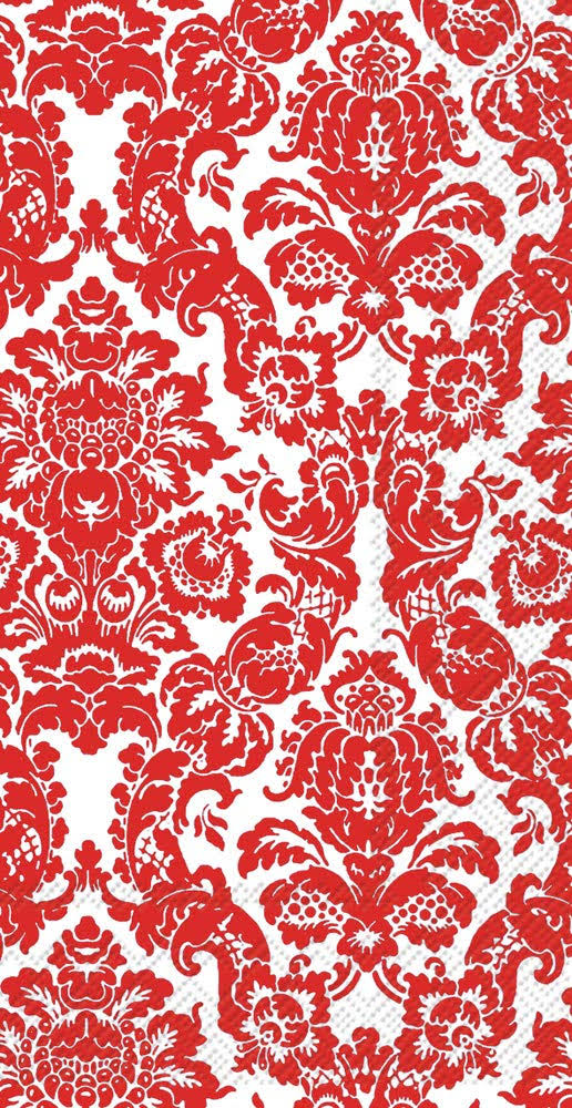 IHR Palais Paper Guest Towels - White & Red