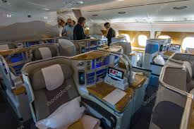 Interior of business class of the world s largest aircraft Airbus