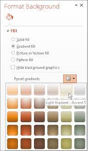 Format The Background Color Of Slides