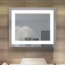badspiegel mit led beleuchtung energiesparend lichtspiegel 60 x 50 cm kaltweiß ip44 badezimmer wandspiegel bad spiegel