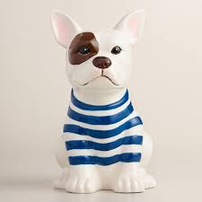 Featuring A Spotted Eye And Breton Stripes Our Exclusive French Bulldog Utensil Crock Is