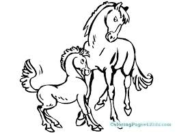 Mother Horse And Foal Coloring Pages Baby Horses Mom Printable Online For Adults