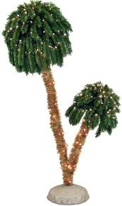 Menards Real Christmas Trees 6 Lit Double Palm Tree At Does Sell