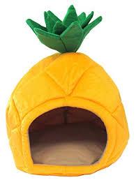 Amazon YML Pineapple Pet Bed House Medium Yellow