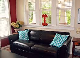 furniture black accent chair with aqua throw pillows for couch