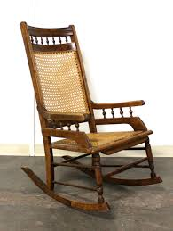 ROCKING ARMCHAIR - Antique American Eastlake Style With Cane