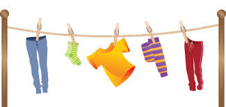 Clothes On A Clothesline Clip