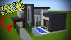 100 A Modern House 5 Easy Steps To Make Minecraft Minecraft