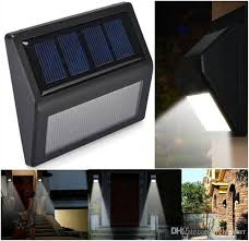 2017 solar lights led motion sensor wall light bright weatherproof