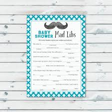 Halloween Mad Libs Pdf by Mad Libs Baby Shower Game Printable Mustache Baby Shower Mad