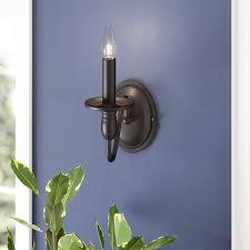 charlton home olivier 1 light candle wall light reviews wayfair