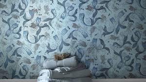 designer tapeten und wanddekoration fürs badezimmer